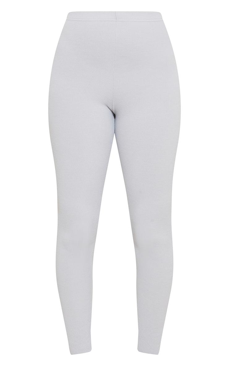Grey Crinkle Rib Leggings 5