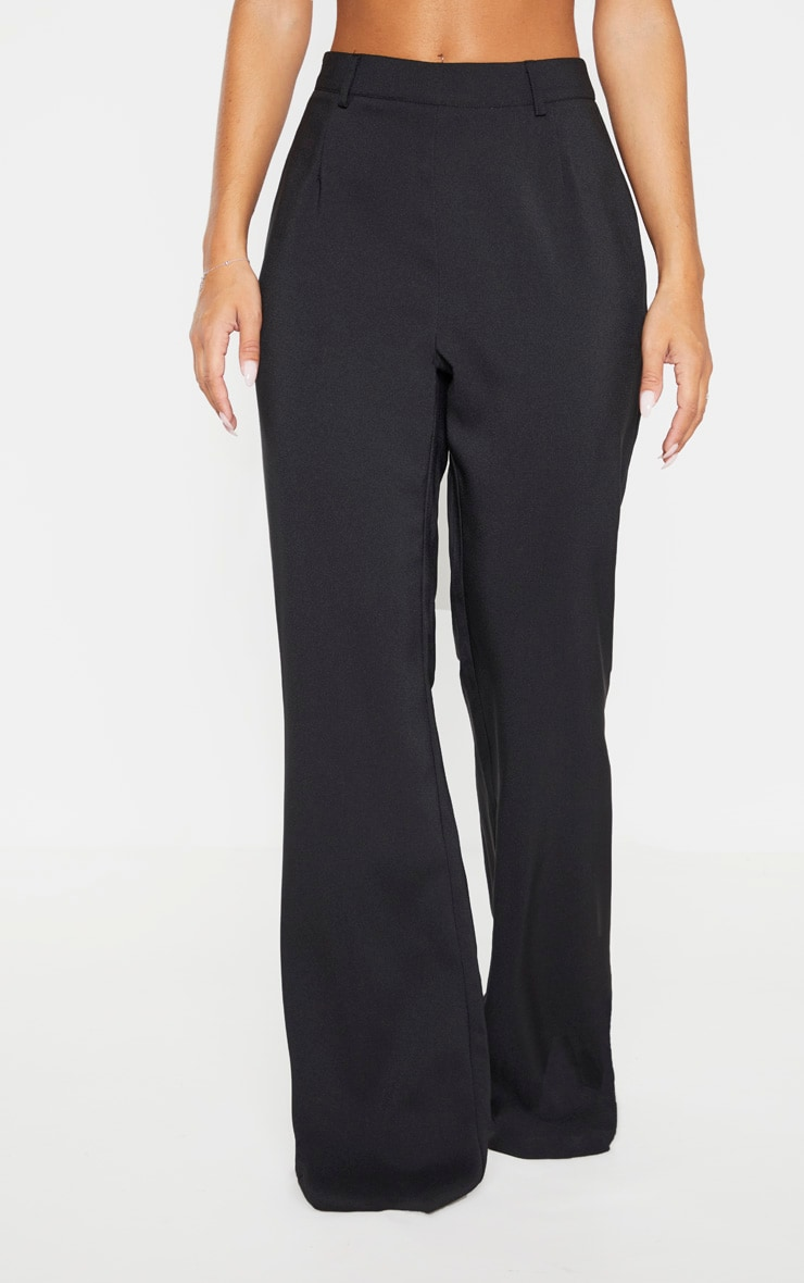 Black Flared Leg Trouser 2