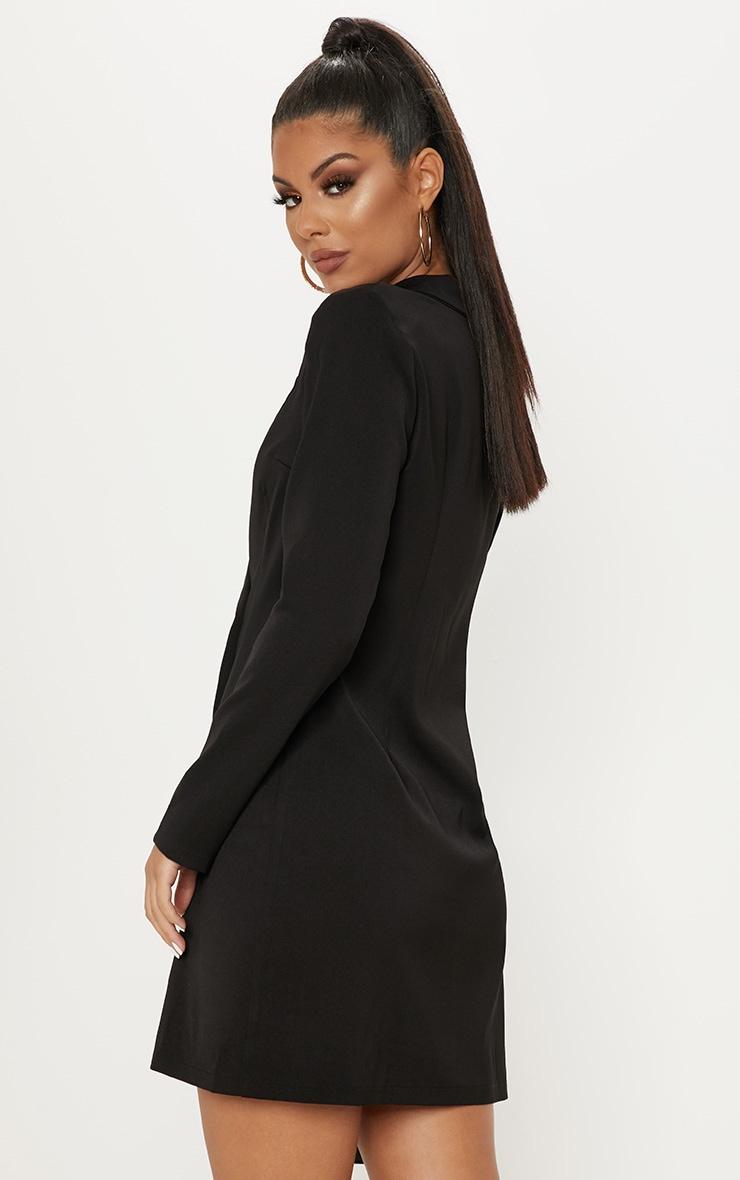 Black Long Sleeve Blazer Dress 2