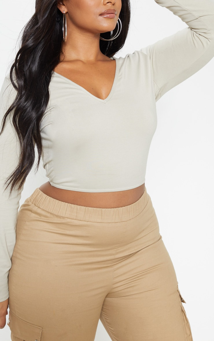 Plus Stone Basic Longline Long Sleeve Top 5