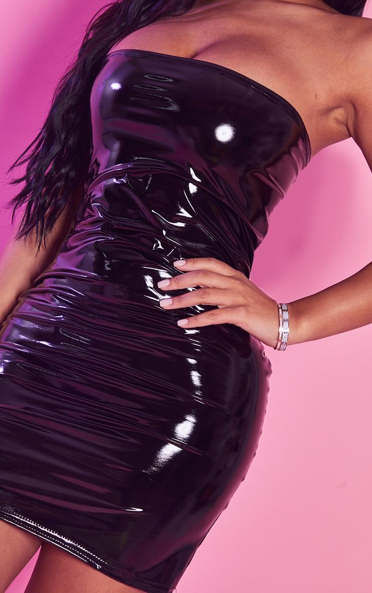 Petite - Mini-robe en vinyle noire 5