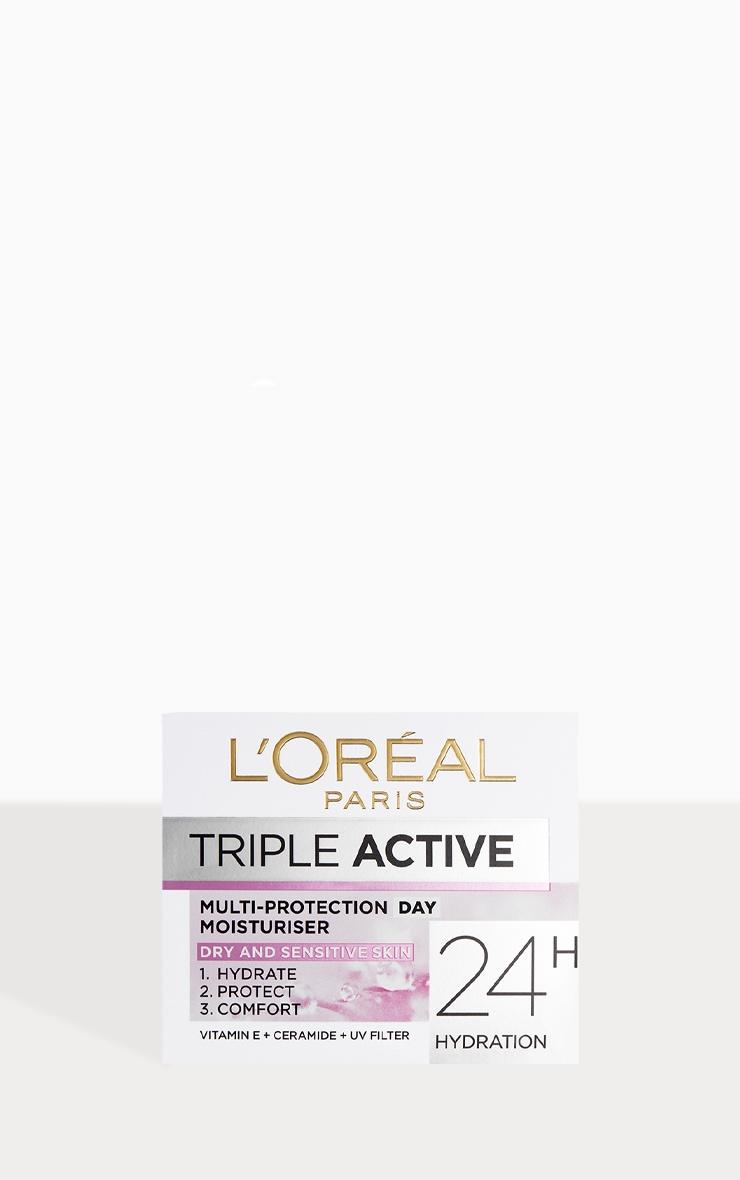 L'Oreal Paris Triple Active Day Moisturiser Dry and Sensitive Skin 50ml 2
