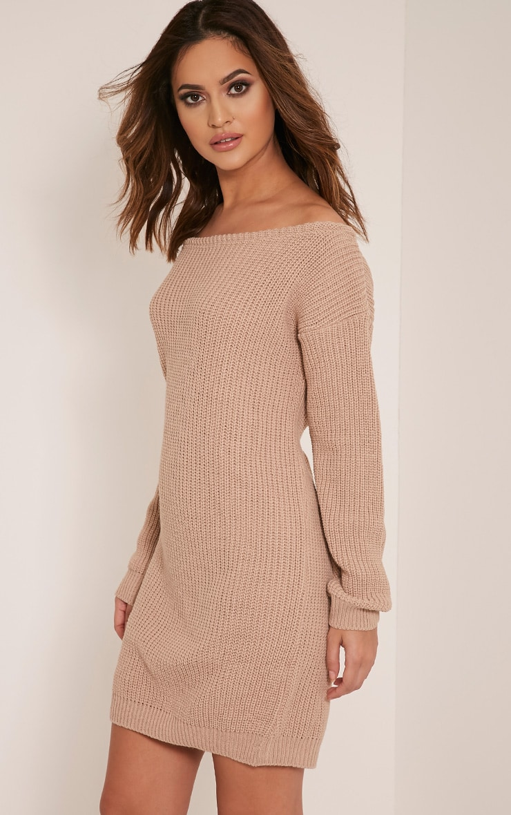 Larissa Stone Off The Shoulder Knitted Dress 4