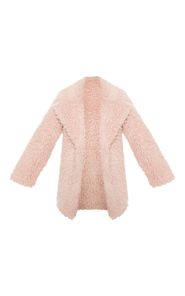 Pink Teddy Faux Fur Coat 3