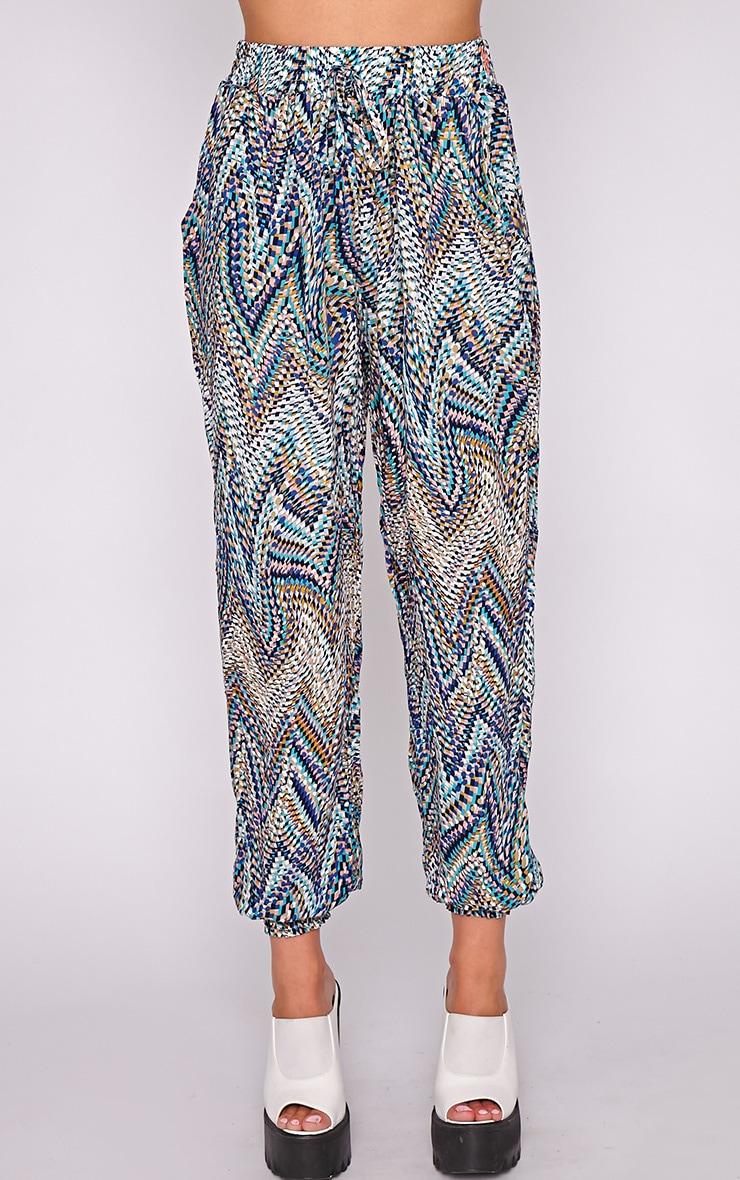 Nahla Blue Print Harem Trouser 3