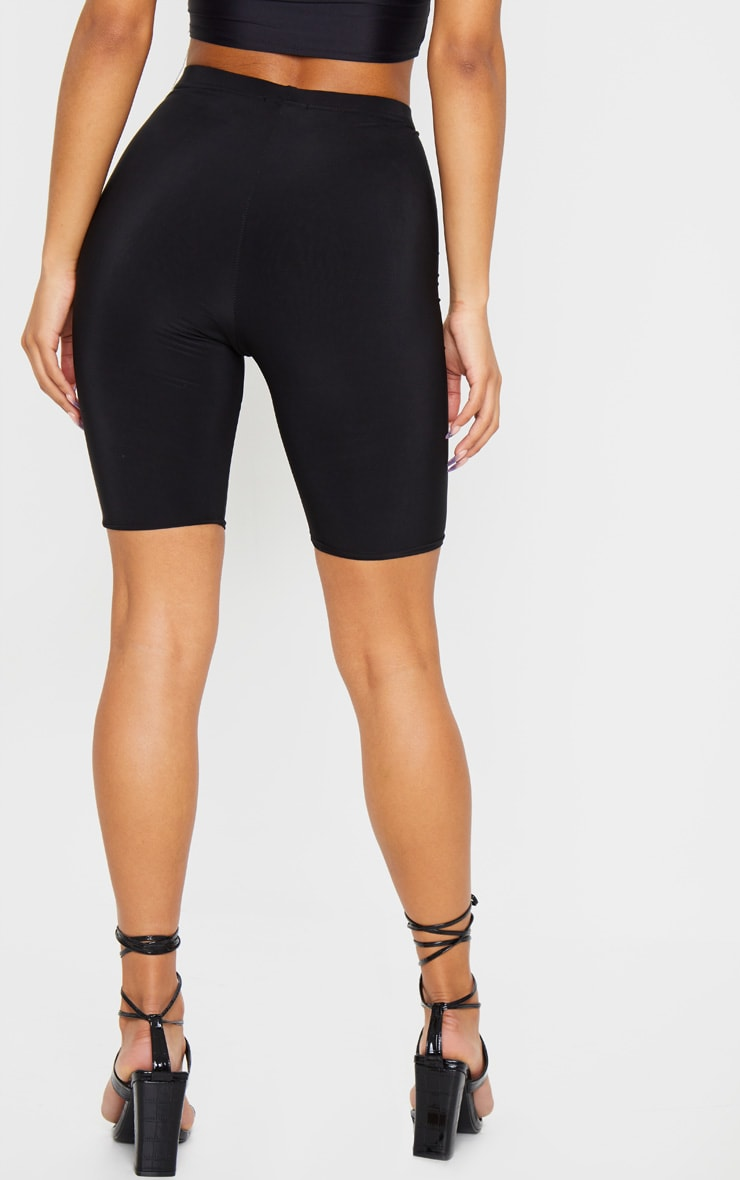 Bella Black Slinky High Waisted Bike Shorts 5