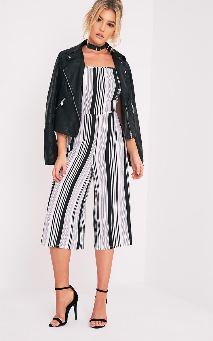 Penny combinaison jupe-culotte à rayures monochromes 4