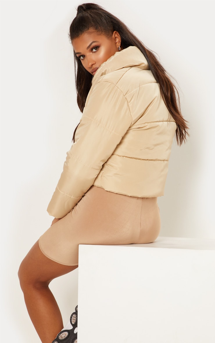 Stone Cropped Puffer Jacket 2