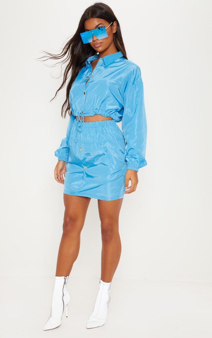 Blue Shell Suit Skirt