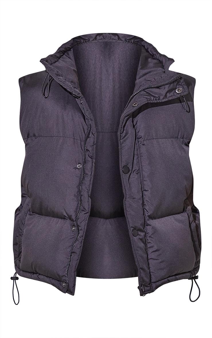 RENEW Petite Black Toggle Detail Puffer Jacket 5
