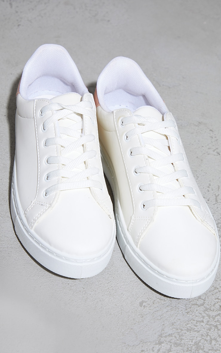 Pink Lace Up Panel Trainers 4