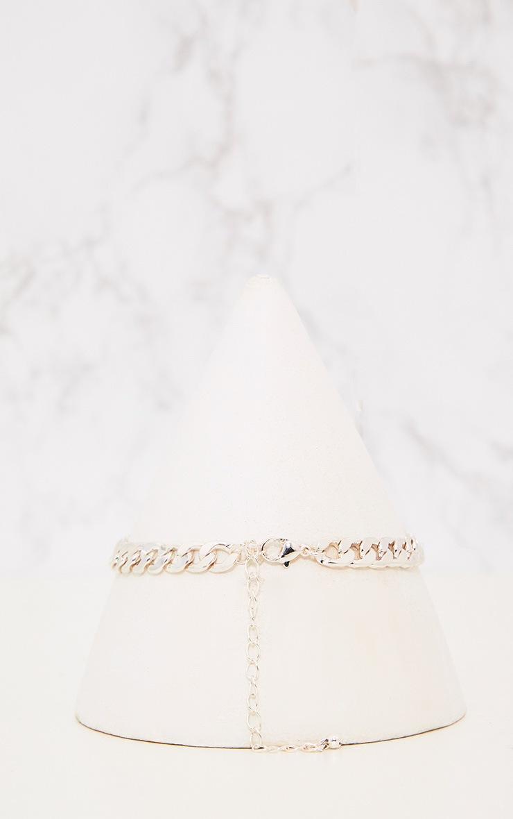 0804f5c8ad9b3 Silver Diamante Link Chain Choker