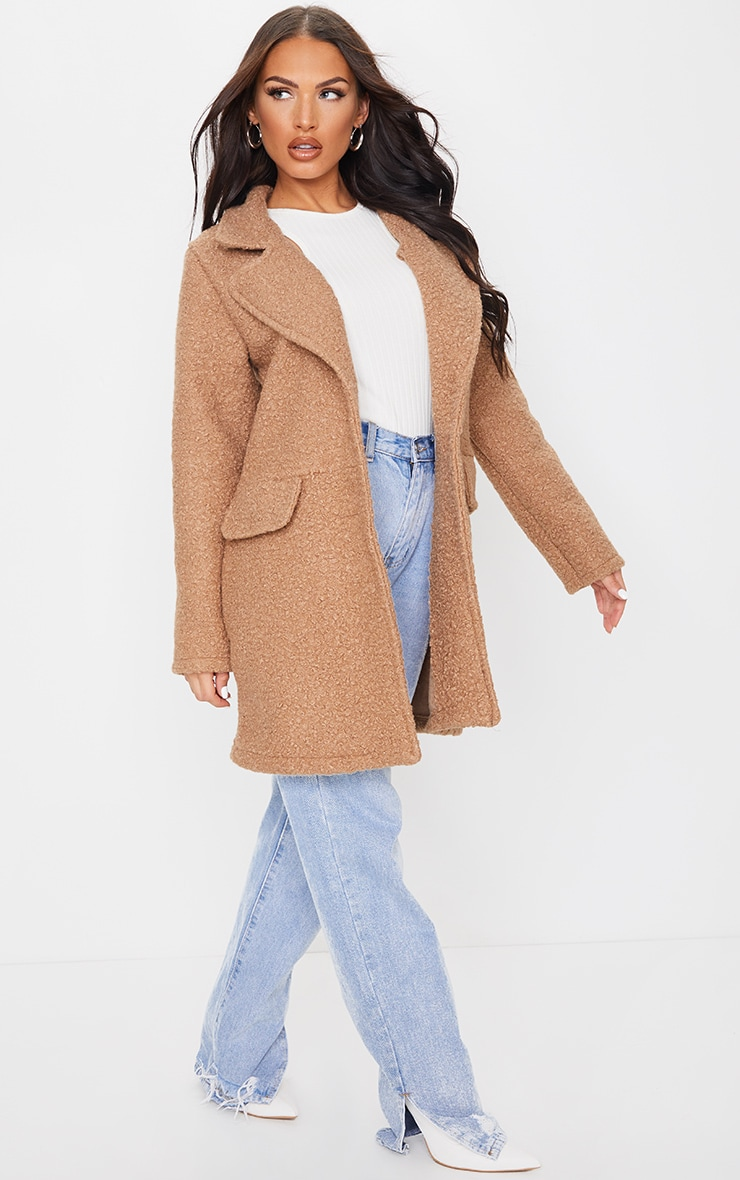 Camel Teddy Button Down Coat 3