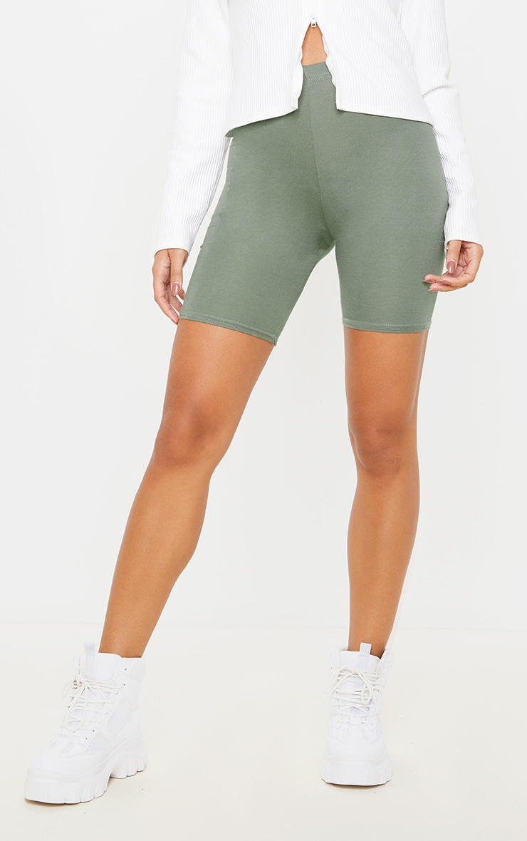 Pale Khaki Basic Bike Short 2