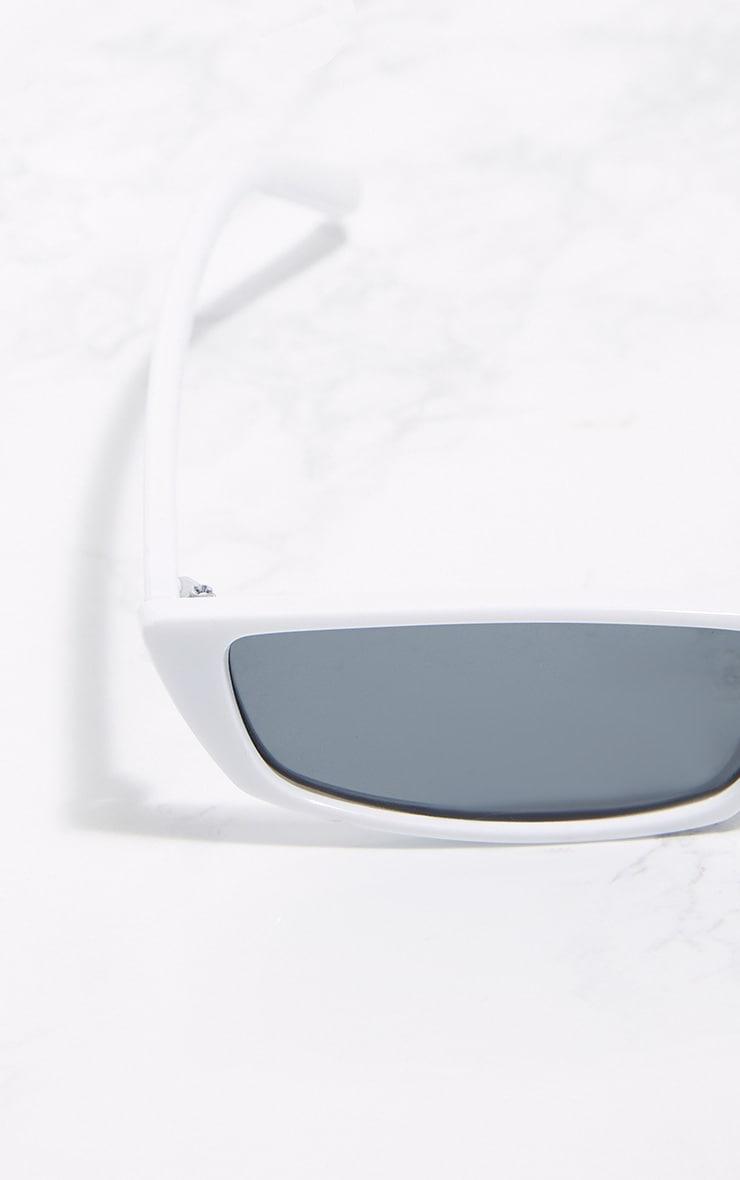 b02325c76ef White Racer Sunglasses image 4