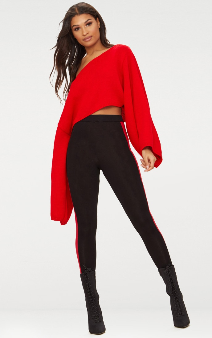 Red Wide Sleeve Jumper 4