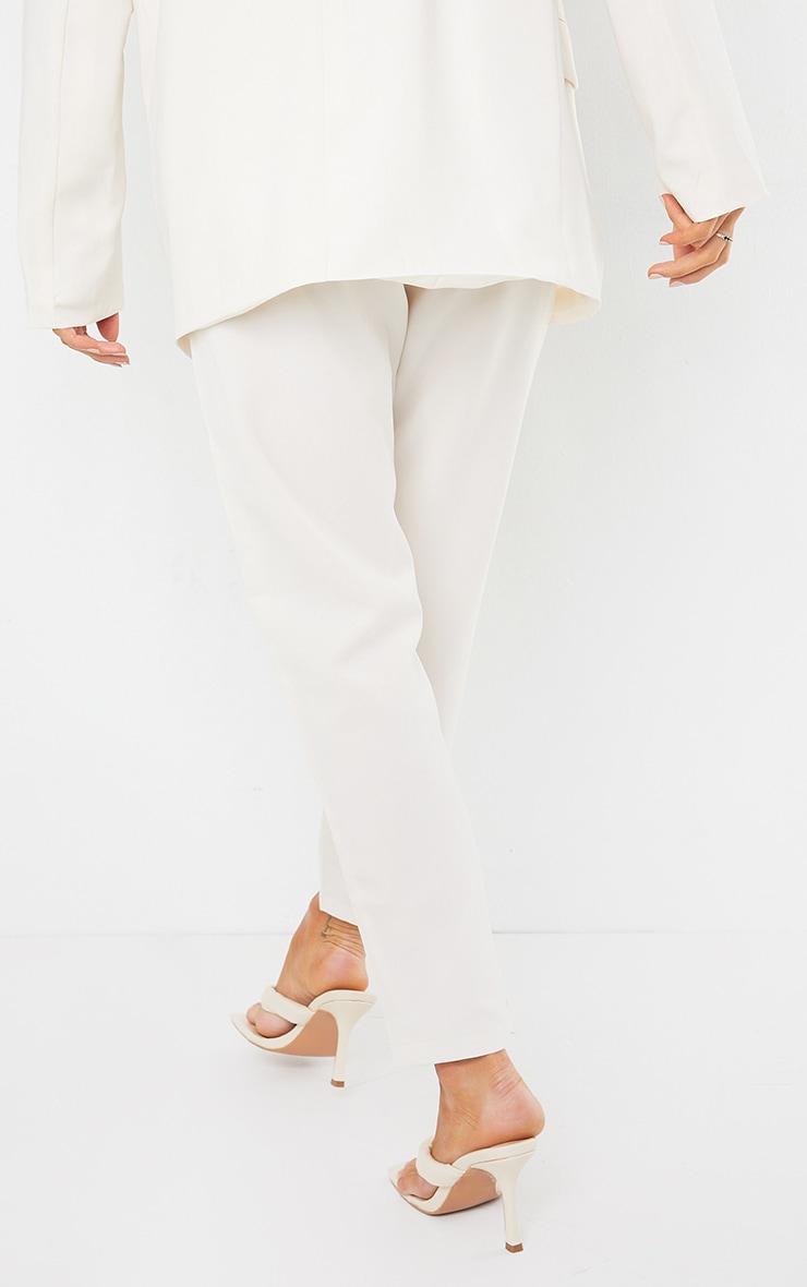 Pantalon à pinces crème 4