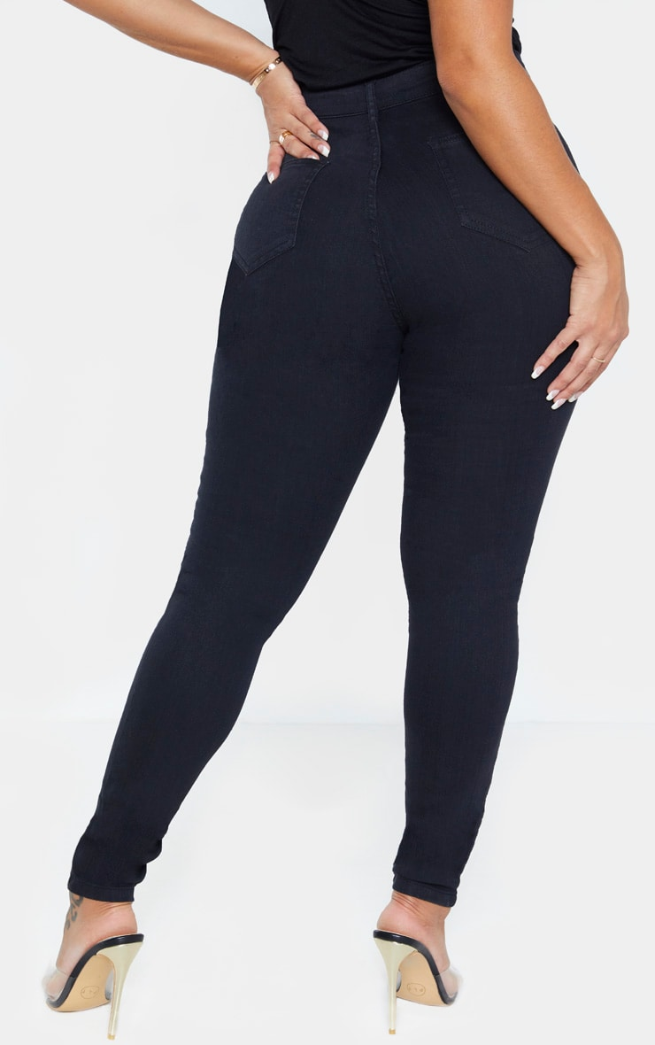 Shape Black Disco Skinny Jeans 4