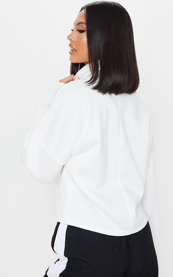 Cream Fleece Roll Neck Sweater 2