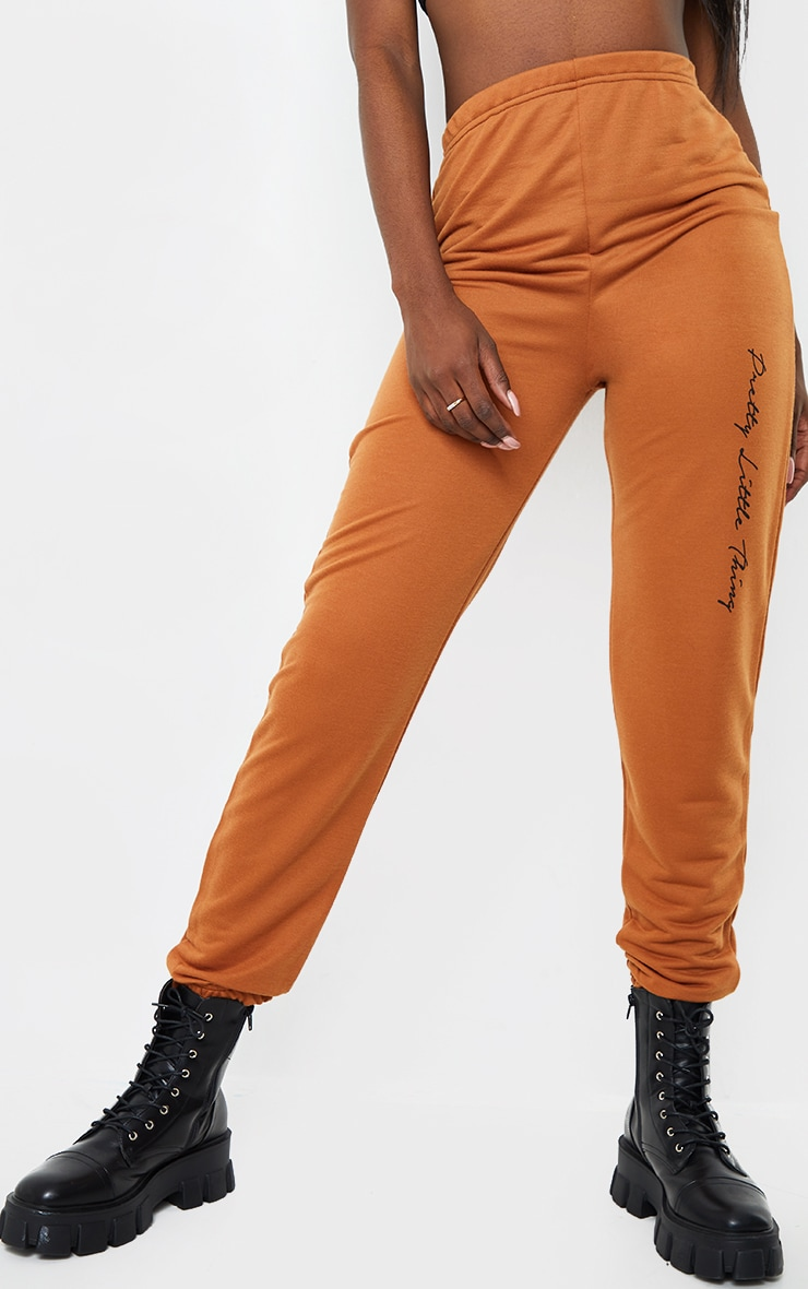 PRETTYLITTLETHING Tall Rust Basic Joggers 2