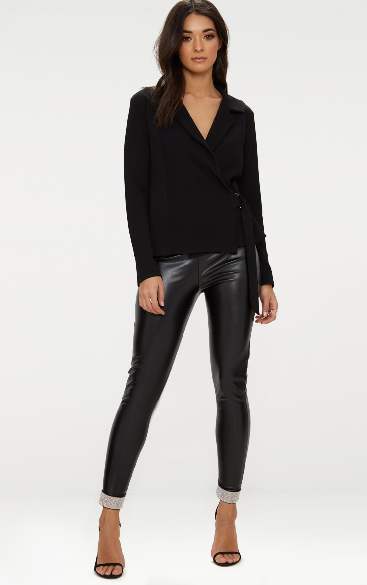 Black Wrap Side D-Ring Blazer 4