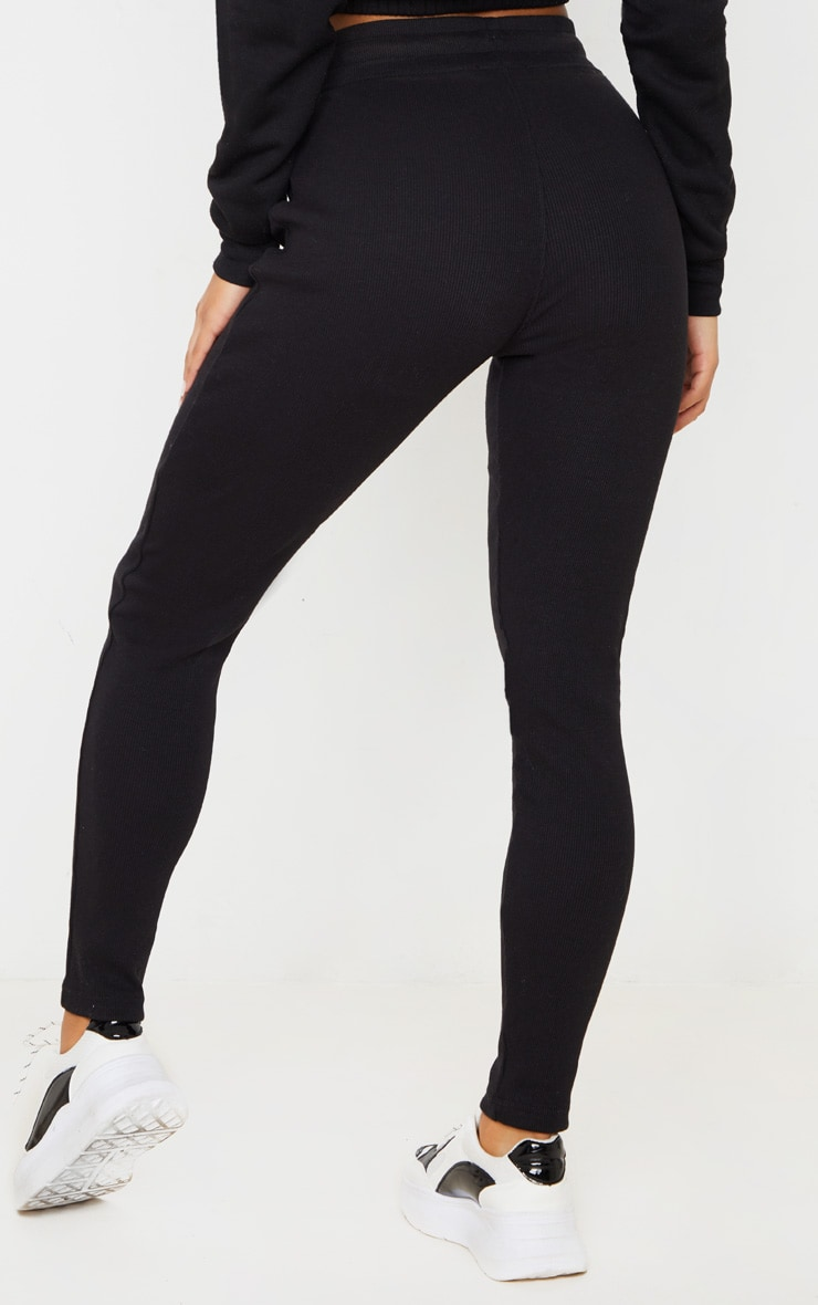 Black Ribbed Skinny Jogger 4