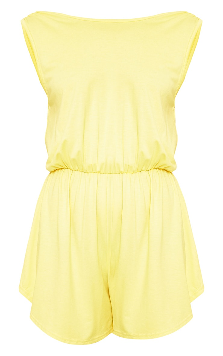 Braylee Yellow Basic Black Playsuit  3