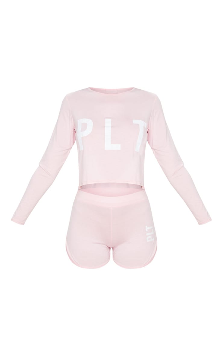 PRETTYLITTLETHING Pink Shorts PJ Set 5