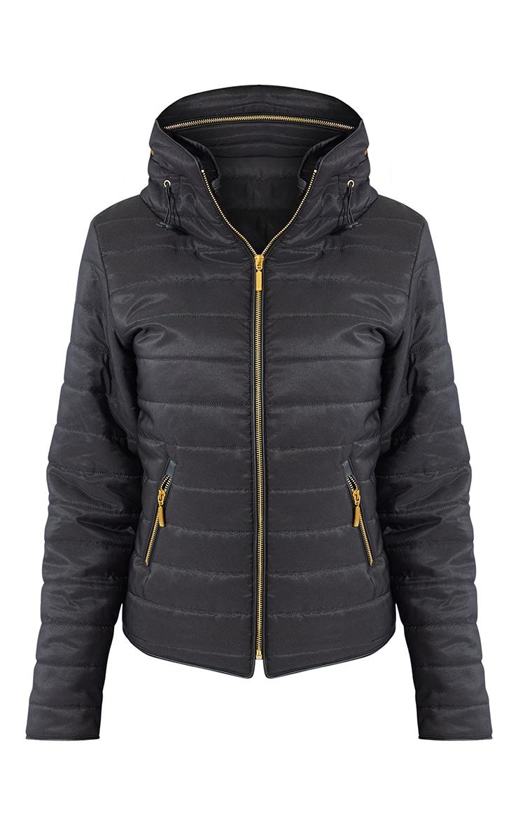 Tall Black Mara Puffer Jacket 5