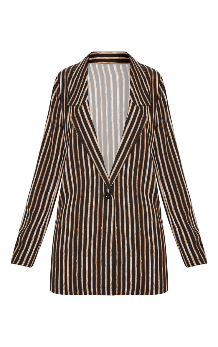 Black Stripe Longline Blazer 3