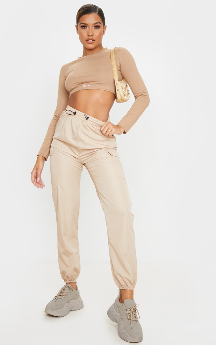 Stone Toggle Waist Shell Suit Jogger 1