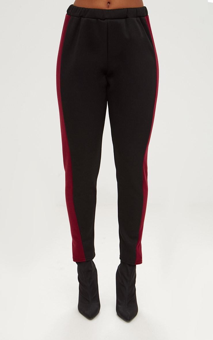 Black Contrast Side Stripe Joggers 2