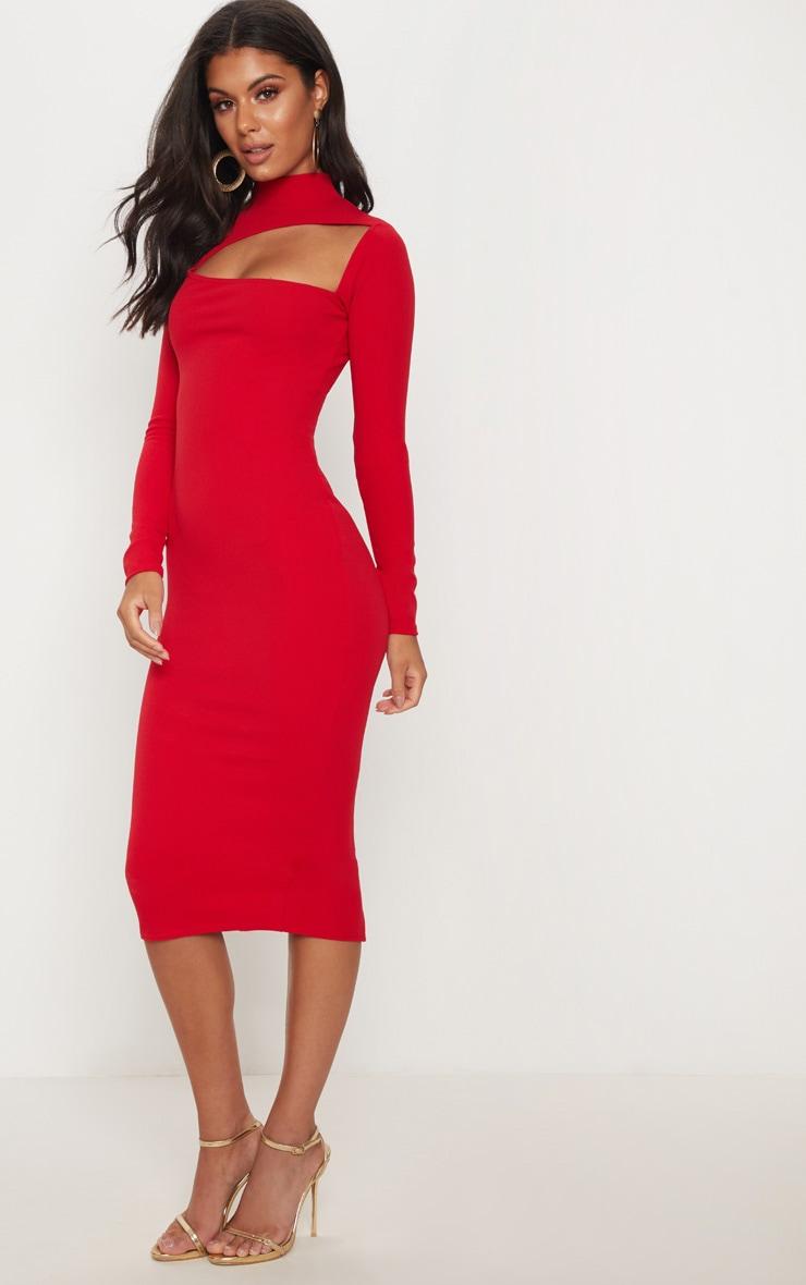 Rose Oriental Trim Detail Maxi Dress Pretty Little Thing s6oasJZbr