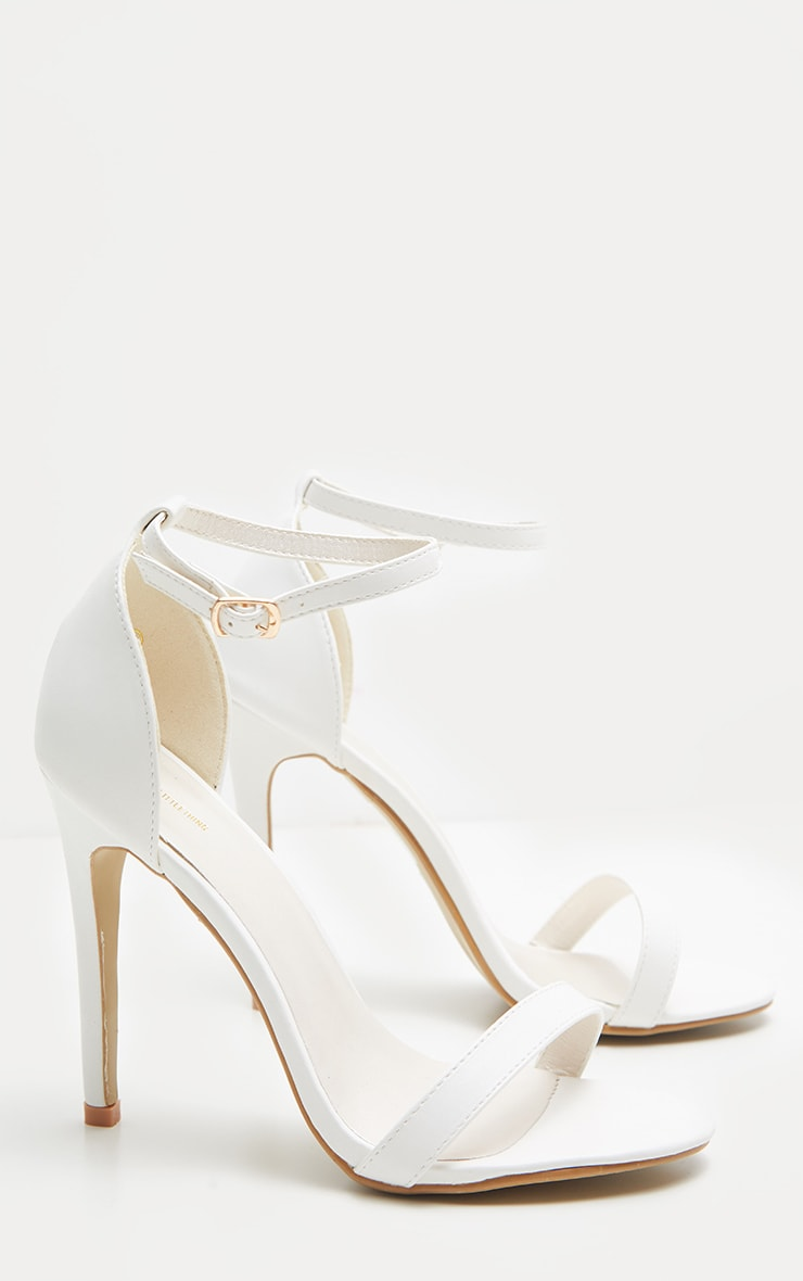 Clover White Strap Heeled Sandals 3