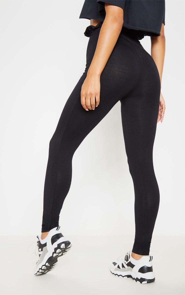 Legging noir froncé à la taille 4