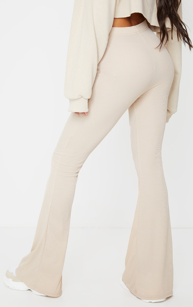 Stone Ribbed Flared Pants 3