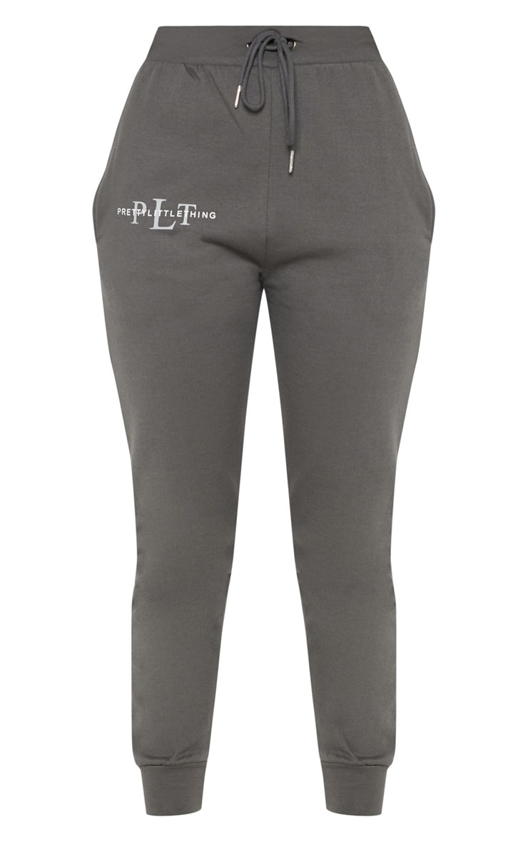 PRETTYLITTLETHING Charcoal Printed Joggers 3
