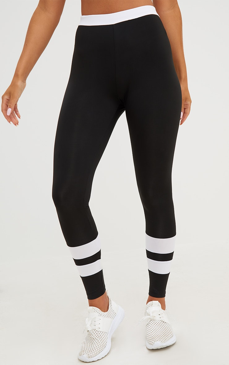 Black Contrast Leggings 5
