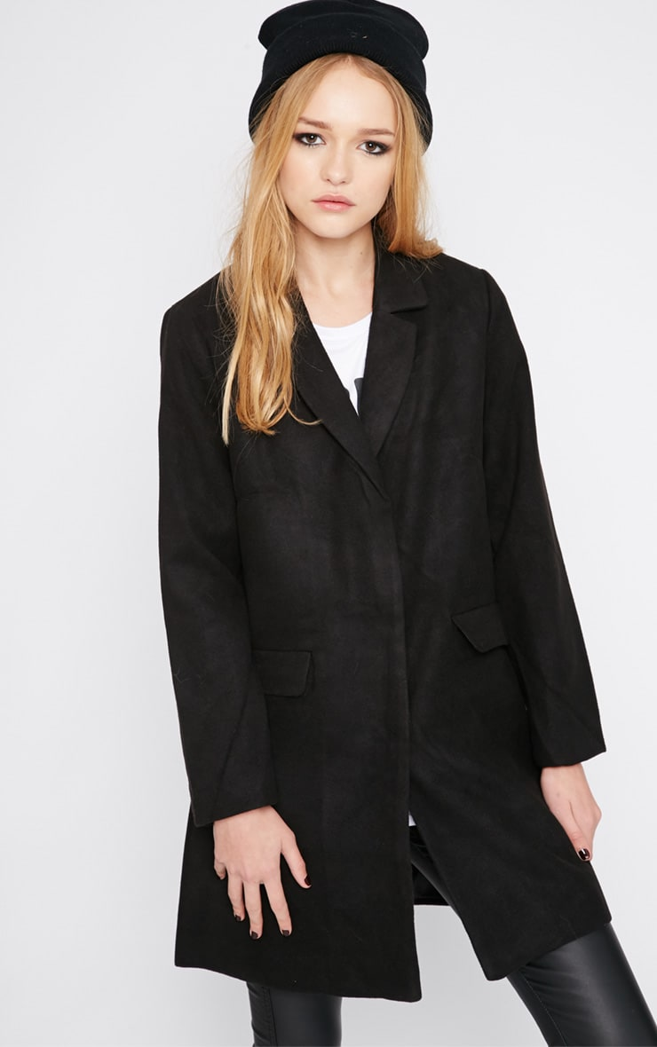 Emmie Black Boyfriend Coat  1