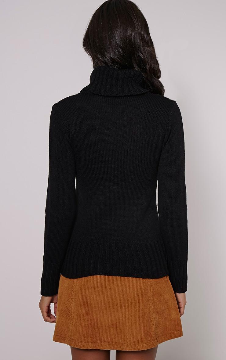 Yonda Black Roll Neck Knitted Jumper 2
