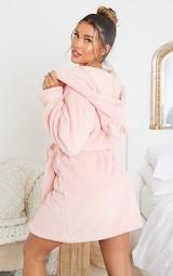 Pink Fluffy Teddy Ear Dressing Gown 2