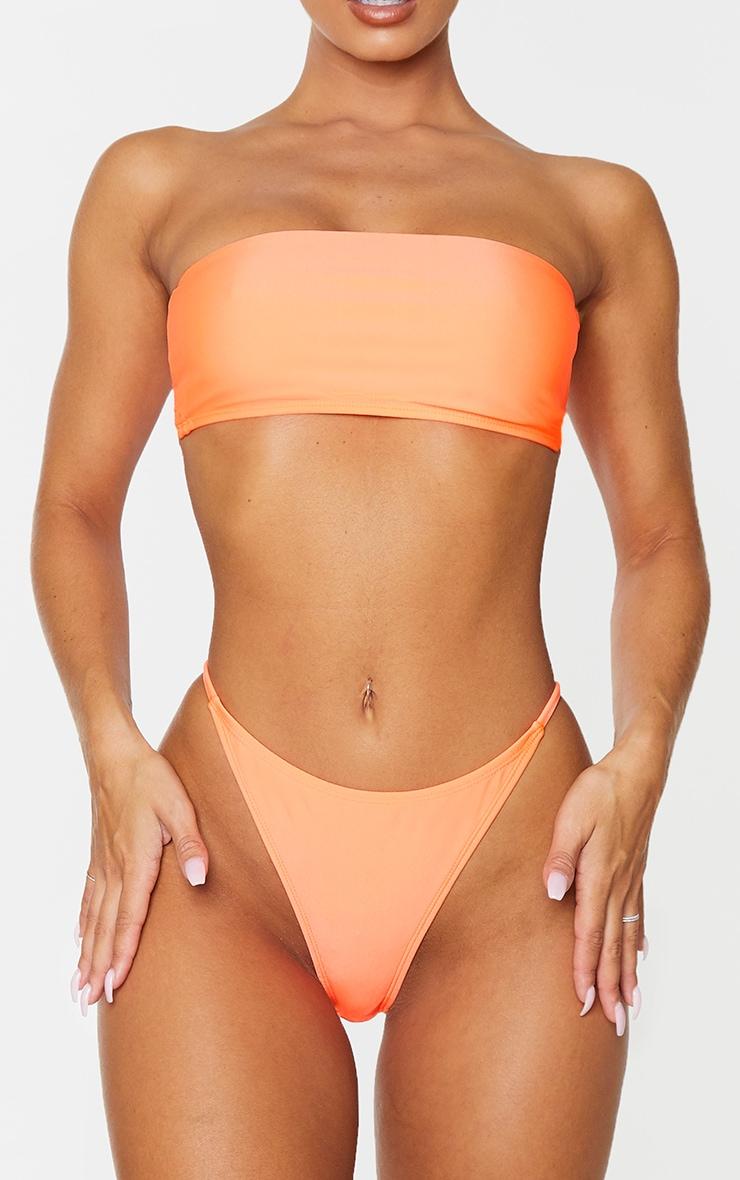 Coral Mix & Match Thong Bikini Bottoms 3
