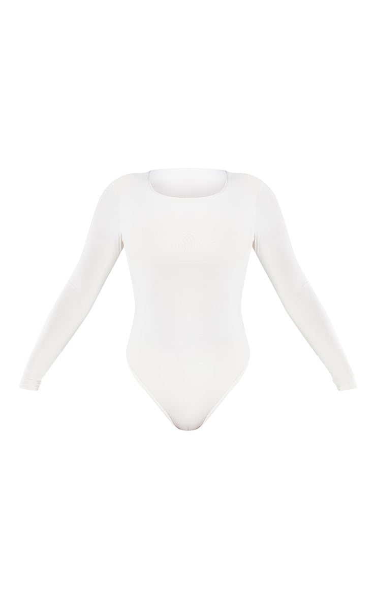 Nude Slinky Shoulder Pad Long Sleeve Bodysuit 5