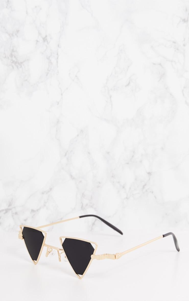Gold Small Triangle Sunglasses  4