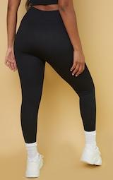 Black Premium Ribbed Seamless Legging 3