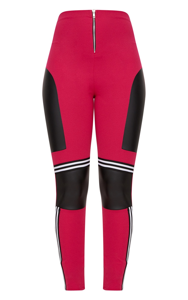 Fuchsia Motocross Panelled Trousers 3