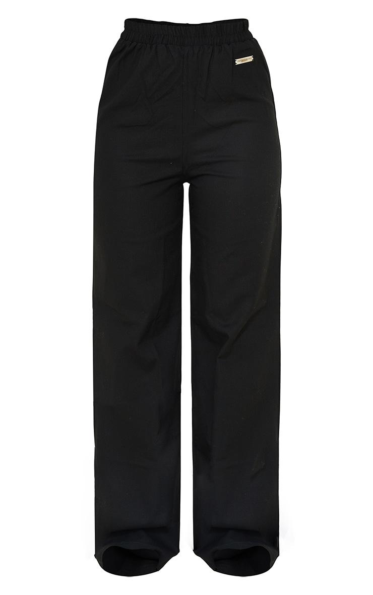 PRETTYLITTLETHING Black Wide Leg Trousers 6