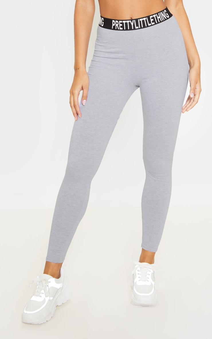 PRETTYLITTLETHING Grey High Waist Legging 2