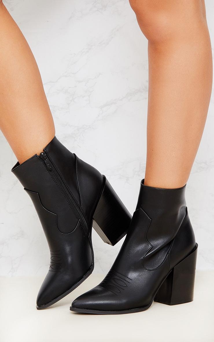 Black Western Boot  3