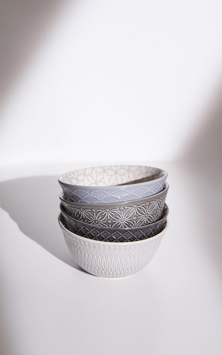Grey Dip Bowls Set Of 4 4
